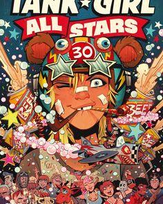 Tank Girl All Stars Vol. 1 - Comics by comiXology Online Comic Books, Free Comic Books, Best Sci Fi Movie, Spiderman, Batman, Nerd, Free Comics, Red Hood, Tank Girl