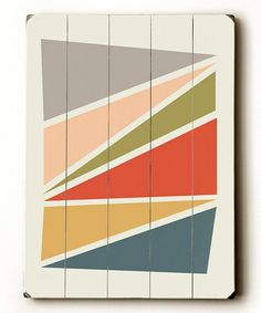 Love this Geometry Wood Plaque on #zulily! #zulilyfinds