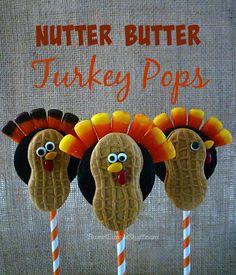 Nutter Butter Turkey Pops