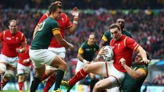 Fourie du Preez's 75th-minute try ended battling Wales' World Cup dream in a colossal quarter-final against South Africa at Twickenham. Wales led going into the final 10 minutes but finally succumbed after enduring a second-half battering.