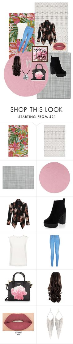 """пролетта идва "" by jojo87732 ❤ liked on Polyvore featuring Surya, Chilewich, Colonial Mills, LE3NO, New Look, Finders Keepers, Calvin Klein, Smashbox, Jules Smith and Bling Jewelry"