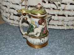 Vintage Capodimonte Italian Cupid Small Stein-Type Pitcher by French Decor, French Country Decorating, Country French, Victorian Bedroom Decor, Gifts For Your Mom, Vintage China, Cupid, Etsy Handmade, Etsy Vintage