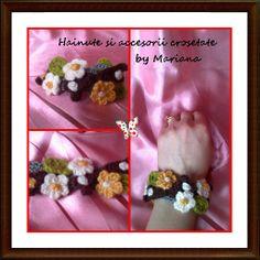 Bratara cu floricele colorate