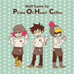 One Piece, Trafalgar Law, Heart pirates Itachi, Jean Bart, One Piece Funny, One Piece Drawing, One Piece Pictures, Trafalgar Law, One Piece Fanart, Cute Chibi, Emo Boys