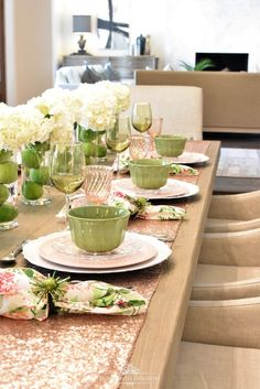 Spring Table Setting for Mother's Day Luncheon - Home with Holliday