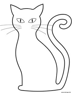 Free printable coloring pages Black Cat Coloring Page Cat Coloring Page, Animal Coloring Pages, Halloween Pictures, Halloween Cat, Black Panther Cat, Spiderman Black Cat, Cat Outline, Cat Template, Black And White Kittens