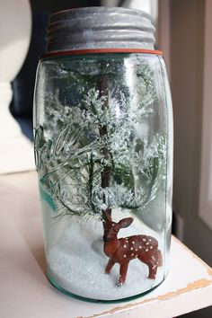 Mason Jar Snow Globes & Terrariums {Christmas Gifts}