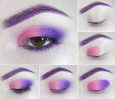 Melanie Martinez Makeup step by step Tutorial purple and red eyeshadow makeup look