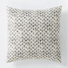 Organic Stamped Dot Duvet Cover, Twin, Slate- Bedding option for master