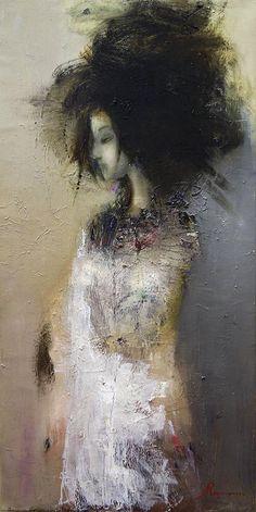 "black-tangled-heart: "" Nina Reznichenko pocilunok-vitru oil on canvas 130cm x 70cm 2008 """