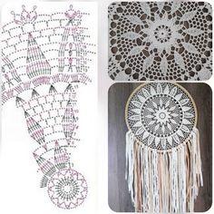 Crochet Doily Diagram, Crochet Motif, Crochet Doilies, Knit Crochet, Doily Patterns, Crochet Patterns, Types Of Yarn, Yarn Crafts, Couture