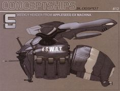 concept ships: Concept ships from Appleseed EX MACHINA