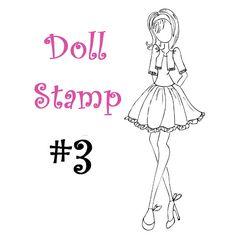 Prima Doll Stamp - Julie Nutting - Large Rubber Stamp - Cling Mount - PRE ORDER Listing - nr3. $6.99, via Etsy.