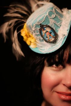 Pirate Pinup Mini Hat by babycakesdesigns on Etsy, $30.00