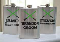 Wedding Flasks - Star Wars inspired Groomsmen - 8oz