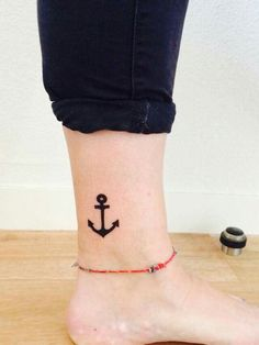Tatouage ancre marine cheville tattoo anchor ankle