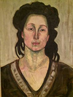 I look for it every time I go to the DIA. I love this painting more than anything. Her face looks like love. A Woman by Ferdinand Hodler