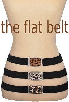 hipsi belts flat belts with authentic hide buckles