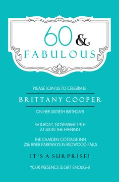 60Th Bday Invites as awesome invitations design