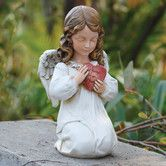 Found it at Wayfair - Angel with Heart Statue