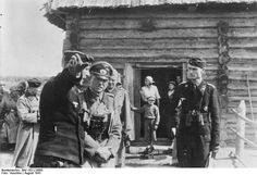 Operation Barbarossa: Colonel General Heinz Guderian visiting a forward headquarters of an armor regiment, Russia, Aug 1941, roughly 2 months after the onset of the invasion. Guderian was constantly frustrated by shortages of fuel and the absence of detailed maps. In order to be in control, he almost always led from the front, sometimes even ahead of his spear-point units.