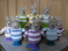 Easter Bunny Egg Cosies courtesy of Little Cotton Rabbit