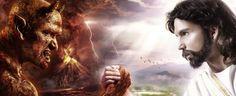 Jesus and the Devil Poster/Print/Arm Wrestling/Demon and Christ inch Akiane Kramarik Paintings, Spiritual Pictures, Spiritual Sayings, Religious Pictures, Jesus Pictures, Religious Quotes, Jesus Wallpaper, Religious Wallpaper, Heaven And Hell