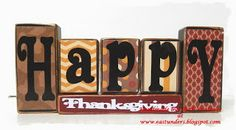 Happy Thanksgiving/Merry Christmas Letter Blocks: Double Sided