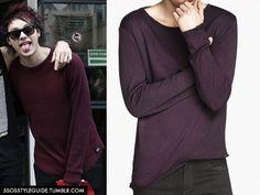 Michael Clifford: Burgundy Pullover Sweater Similar /Similar/ Similar