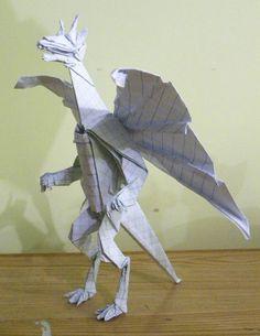 Si este origami aparece de noche seguro asusta a más de uno #diseno