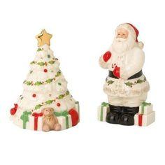 DistiKem(TM) Lenox Holiday Santa & Tree Salt & Pepper Set - http://www.specialdaysgift.com/distikemtm-lenox-holiday-santa-tree-salt-pepper-set/