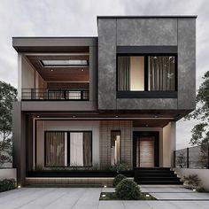 Modern Small House Design, Modern Exterior House Designs, Classic House Exterior, Modern House Facades, Classic House Design, Dream House Exterior, Modern Architecture House, Exterior Design, Architecture Interiors