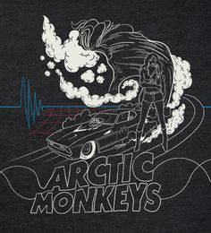 The fashion of The Arctic Monkeys is some what like Greaser style in a way by how they gel their hair and wear leather jackets but before this style they use to wear Ralph Lauren shirts and just dressed casual. Music Wall, Music Artwork, Arctic Monkeys, Do I Wanna Know, Alternative Rock, Monkey 3, The Last Shadow Puppets, Band Posters, Punk