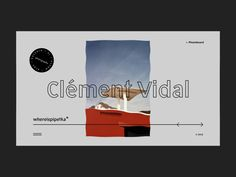 whereispipetka — Clément Vidal designed by tokitoshi for tamashi. Connect with them on Dribbble; Minimal Website Design, Website Design Layout, Web Layout, Website Designs, Graphic Design Cv, Graphic Design Illustration, Photography Website Design, Website Design Inspiration, Design Ideas