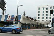Johnie's Coffee Shop on Wilshire Boulevard, Los Angeles designed by Armet & Davis