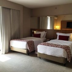 Camas do quarto Hotel Radisson Faria Lima