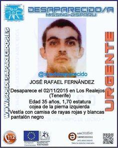 Un hombre desaparecido en Los Realejos, Tenerife        José Rafael Fernández desaparecido en Los R...