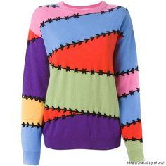 Damen Pullover Strick von Mugler - von idea by Sosu - Farfetch Blue Long Sleeve Tops, Long Sleeve Sweater, Big Knits, Preppy Style, White Sweaters, Refashion, Minimal Classic, Moschino, Designer
