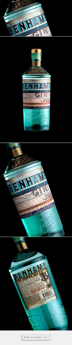 Benham's Gin — The Dieline - Branding & Packaging... - a grouped images picture - Pin Them All