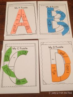 Alphabet Uppercase Puzzle - Worksheet or Center activity