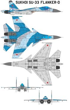 "The Sukhoi Su-33 (NATO reporting name ""Flanker-D"") is a carrier-based multi-role fighter aircraft produced by Russian firm Sukhoi beginning in 1982. It is a derivative of the Su-27 'Flanker&#1..."
