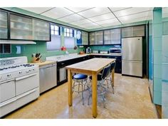 """The Ultimate Bungalow"" kitchen - remodeled in the art deco style, in which it remains today"