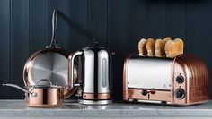 Copper Dualit toaster and kettle. Need a new kitchen to show these off)