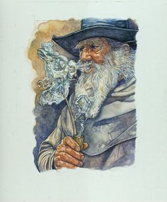 Гэндальф Gandalf the Grey Wizard Smoking The Hobbit от stephenwalshart