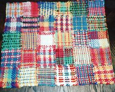 Rug made from potholder loom