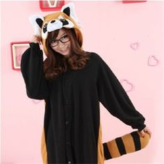 Kigurumi Adult Animal Onesies - Red Panda - Shipping Cap Promotion- - TopBuy.com.au