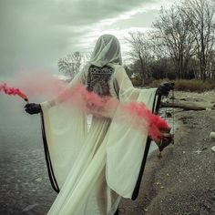 white cloak- I'm not sure if this is a real ritual process but I like the photo..