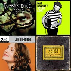 A playlist featuring Mat Kearney, Evanescence, Kaiser Chiefs, and others