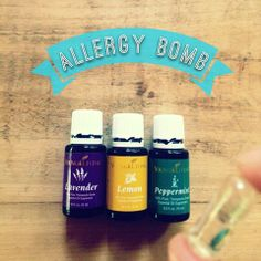 Lemon, Peppermint and Lavender essential oil, when combined, are a natural remedy for seasonal allergies! This little trio has worked wonders for our family! #Youngliving #essentialoils #yleo