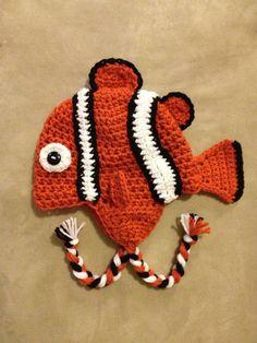 Fish crochet hat by HookdBytheSea on Etsy, $25.00